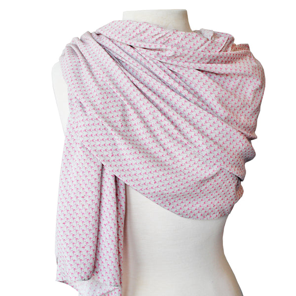Gray Flamingo Scarf