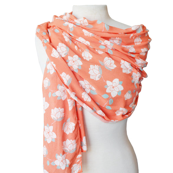 Orange Magnolia Scarf