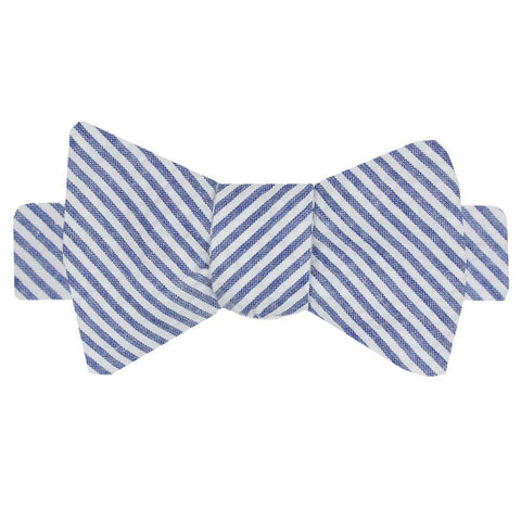 NOLA Navy Boys' Seersucker Bow Tie