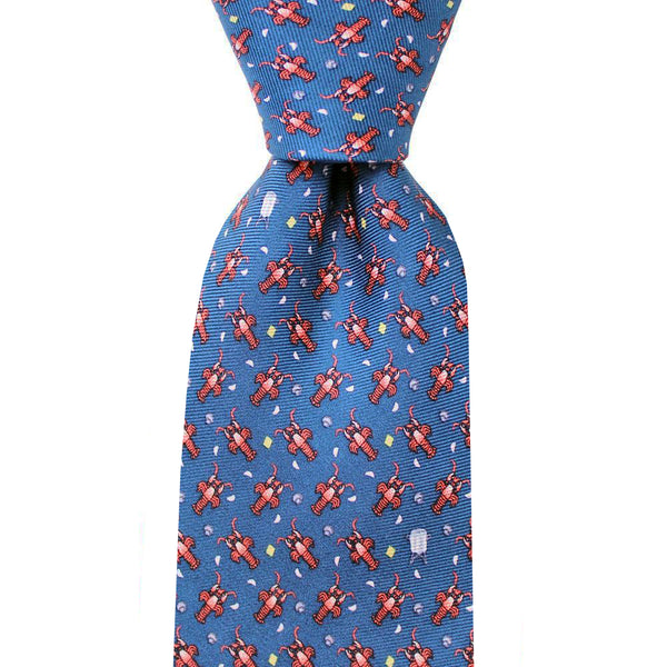 Midnight Navy Crawfish Boil Skinny Tie
