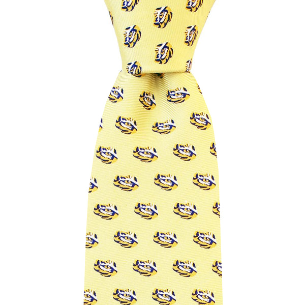 King Cake Yellow Eye of the Tiger Skinny Tie