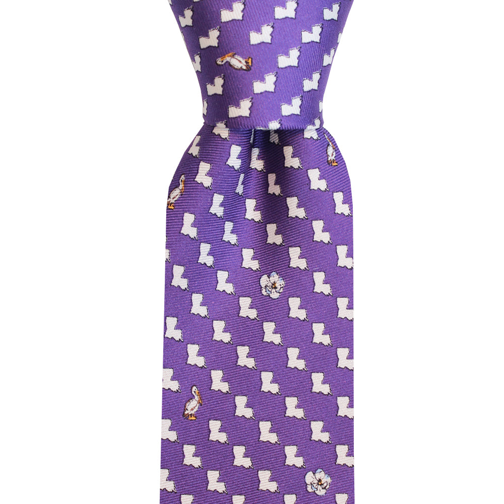 Regal Purple Louisiana Skinny Tie