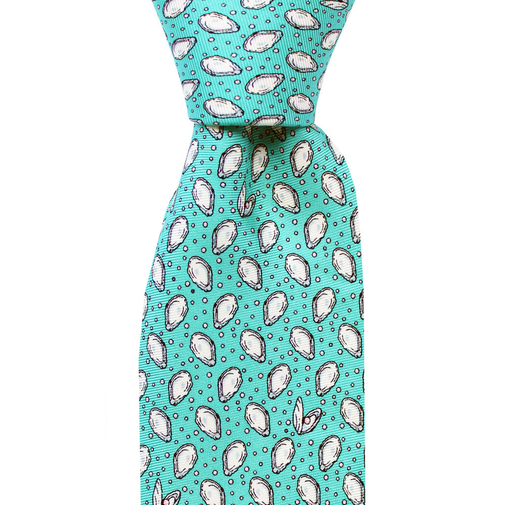 Sea Breeze Blue Mini Gulf Oyster Skinny Tie