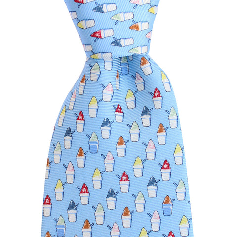 Gulf Blue Snoball Extra Long Tie
