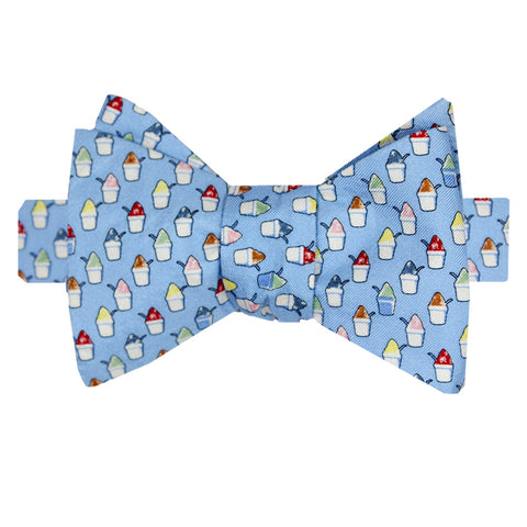Gulf Blue Boys' Snoball Bow Tie