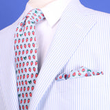 NOLA Couture x Haspel Strawberry Extra Long Tie