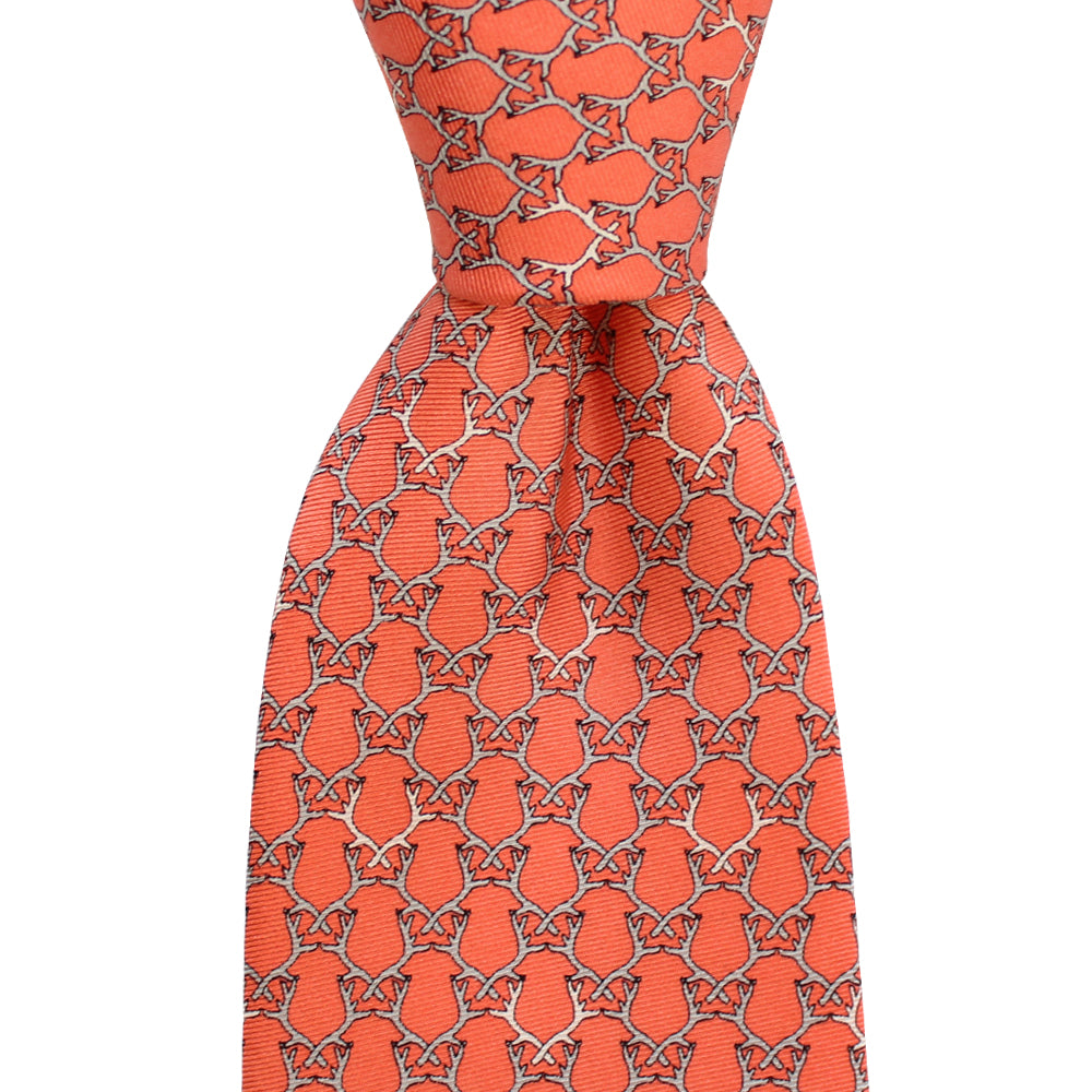 Étouffée Orange Antler Extra Long Tie