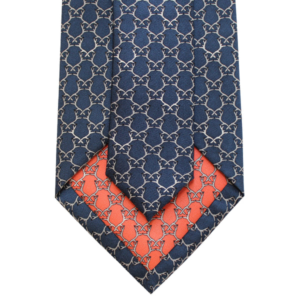 Midnight Navy Antler Tie