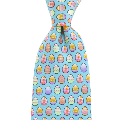 Gulf Blue Easter Eggs Tie