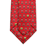 Cayenne Red Holiday Streetcar Tie