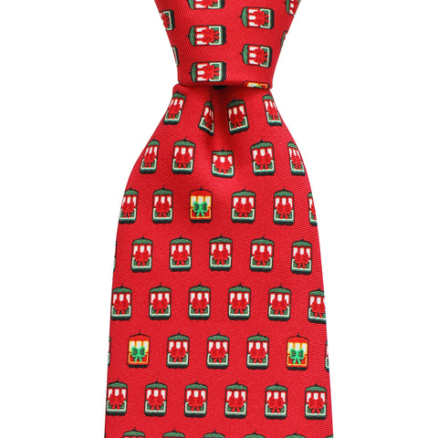 Holiday Streetcar Extra Long Tie
