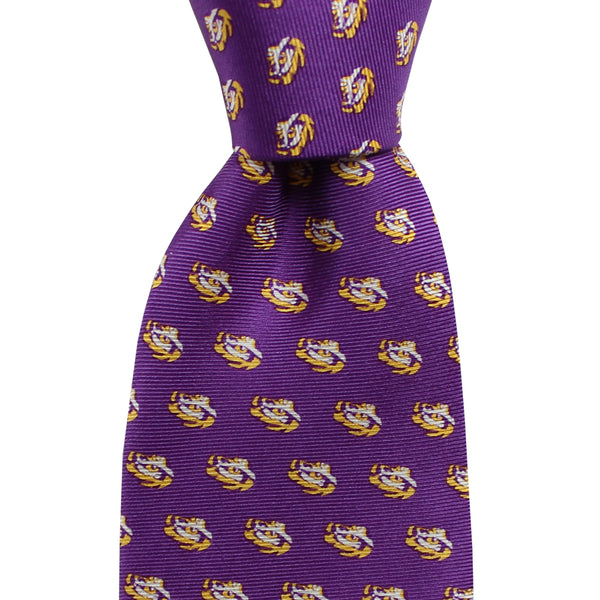 Regal Purple LSU Eye of the Tiger Extra Long Tie