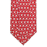 Cayenne Red MSY Airplanes Tie