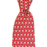 Cayenne Red MSY Airplanes Extra Long Tie