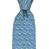 NOLA Navy Second Line Extra Long Tie