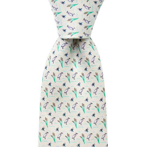 Beach Beige Wetlands Tie