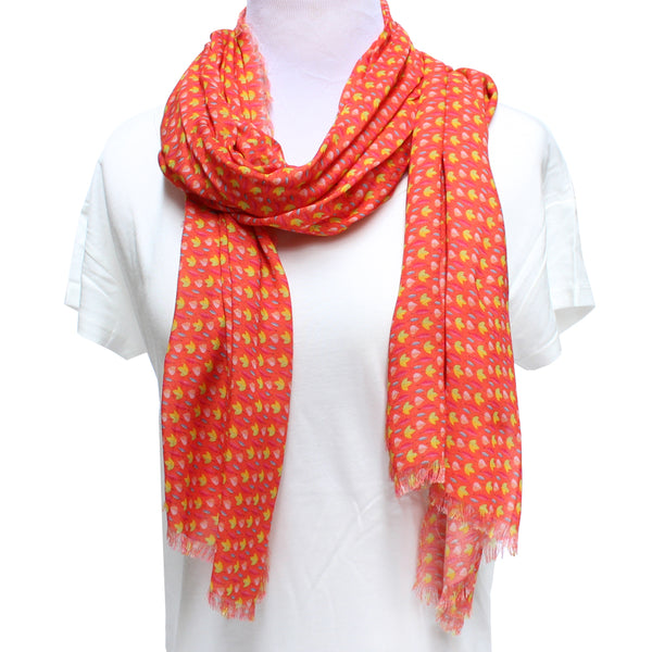 Cashmere Blend Fall Leaves Scarf