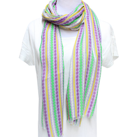 Cashmere Blend Mardi Gras Beads Scarf