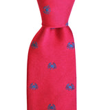 Boiled Crab Skinny Woven Tie