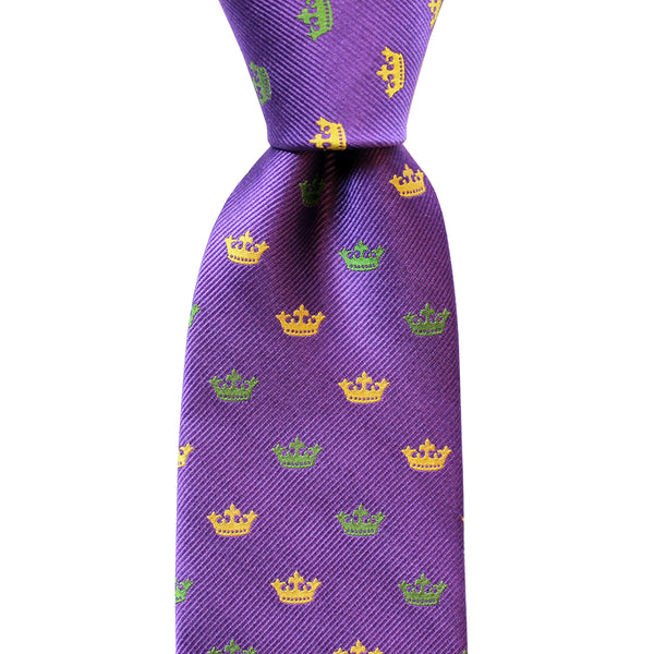 Woven Crown Extra Long Tie