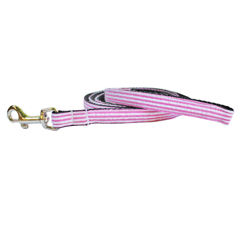 Extra Small Seersucker Dog Leash