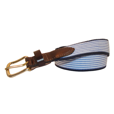 NOLA Navy Boys' Seersucker Club Belt