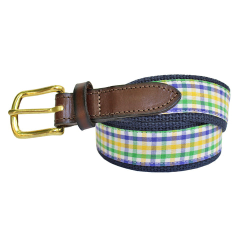Mardi Gras Mambo Boys' Gingham Club Belt