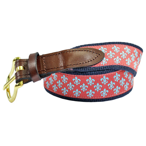 Étouffée Orange Boys' Mini Fleur De Lis Club Belt