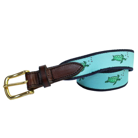 Caribbean Blue Boys' Sea Turtle Club Belt