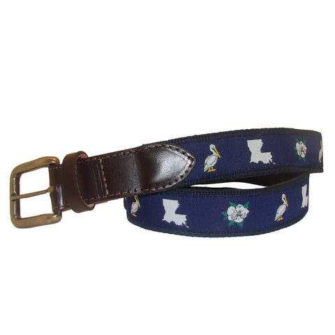 Midnight Navy Louisiana Club Belt