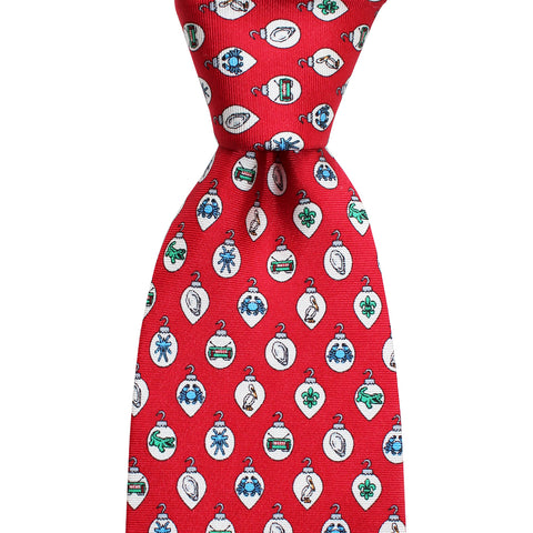 Boys' Christmas Ornaments Tie