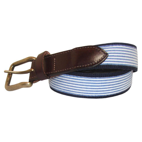 NOLA Navy Seersucker Club Belt