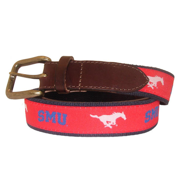 Red SMU Mustang Club Belt