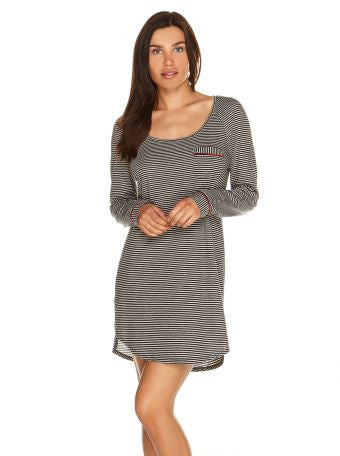 Bella Stripe Long Sleeve Sleep Dress