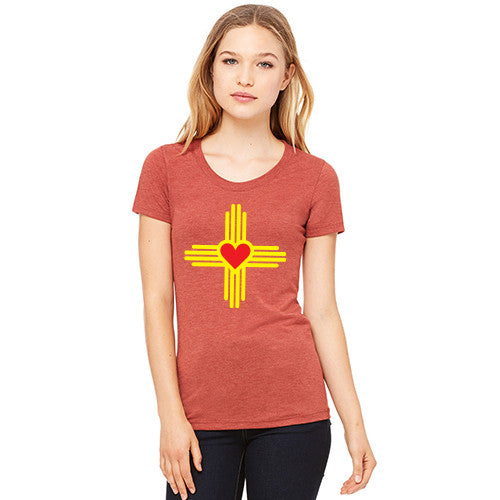New Mexico Love Zia WOMENS Triblend T-Shirt