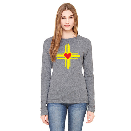 New Mexico Love Zia WOMENS Long-Sleeve T-Shirt