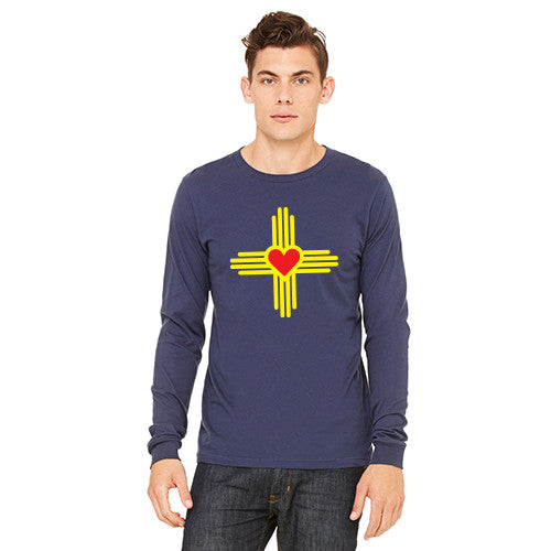 New Mexico Love Zia MENS Long-Sleeve T-Shirt