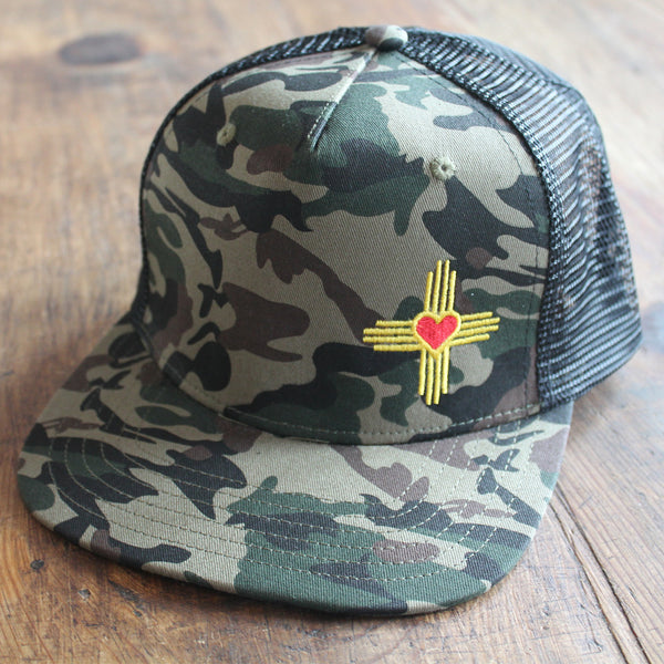 New Mexico Love Zia Trucker Caps