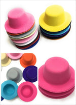 Set of 4 x Mini Round Top Hat Cap Fascinator Felt Hat Base Supplies Wholesale