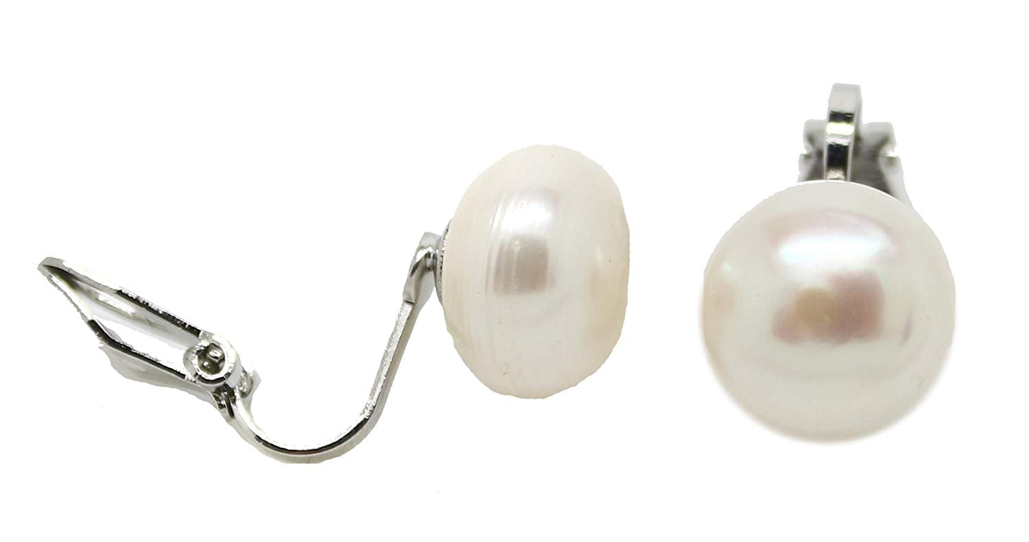 Natural Freshwater Pearl Clip On Earring Stud