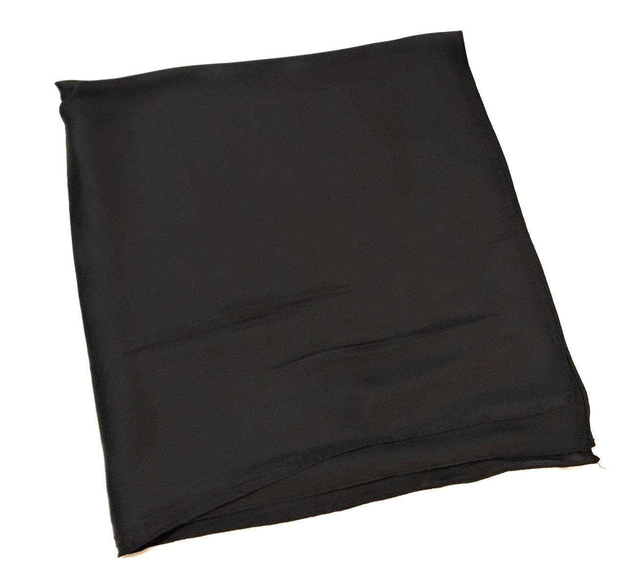 Plain Black  Scarf Thin and Silky for Summer and Spring