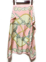 Pink and Cream Tassel Womens Spring Scarf - Thin Silky Summer