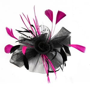 Black Butterfly Fascinator on Comb Headband or Clip