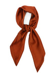 Burnt Orange Scarf Thin Silky Womens Summer Spring