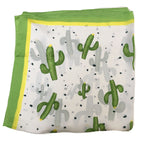 70cm x 70cm Square Scarf Green Cactus Scarf Thin Silky Womens Summer Spring