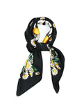 Black White Daisy Scarf Thin Silky Womens Summer Spring