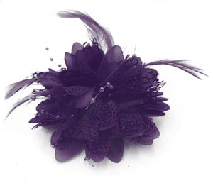 Classic Flower Fascinator - Clip, Band Pin Corsage
