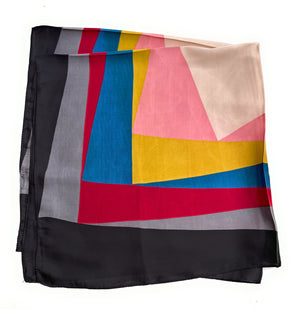 70cm x 70cm Square Scarf Multi Colour Block Scarf Thin Silky Womens Summer Spring