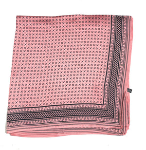 70cm x 70cm Square Scarf Pink Greek Scarf Thin Silky Womens Summer Spring