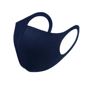 3 Pack Navy Reusable Fabric Face Masks Covering Washable Adult Size